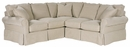 "Christine 2-Piece ""Designer Style"" Slipcovered Sectional (As Pictured)"