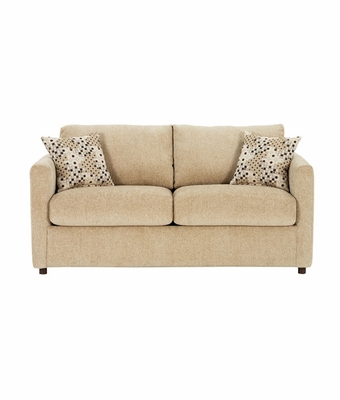 Small Spaces Fabric Full Sleeper Sofa With Sleek Track Arms