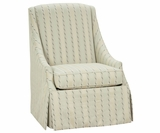 Clara Skirted Fabric Chair w/ Sloping Arms
