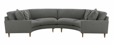 Clarice Curved Fabric Upholstered Sectional Sofa