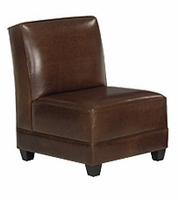 Cole Armless Leather Chair