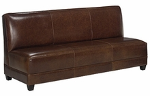 "Cole ""Designer Style"" Leather Armless Settee"