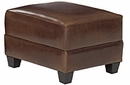"Cole ""Designer Style"" Leather Ottoman"
