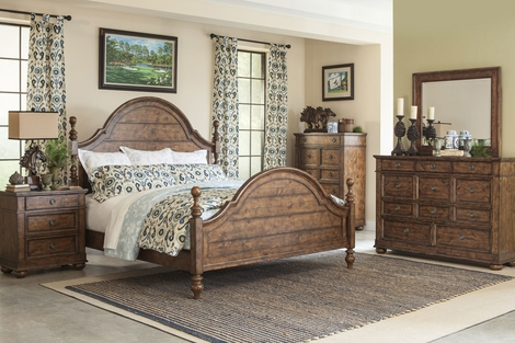 Colton Rustic Wood Bedroom Collection