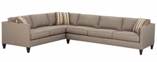 Connie Track Arm Fabric Sectional w/ Nailhead Trim