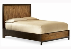 Kipton Contemporary Curved Panel Storage Bed