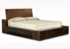 Kipton Contemporary Platform Bed w/ Double Underbed Storage