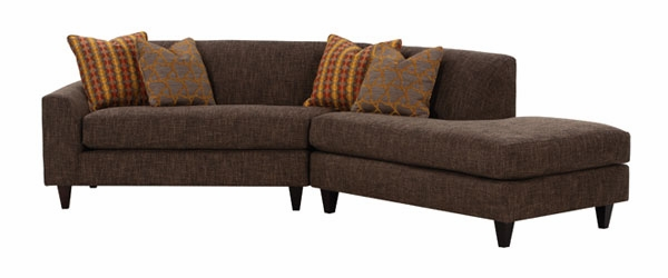 Fabric Upholstered Angled Sectional Sofa W Chaise