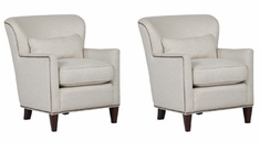 """Corliss """"Ready To Ship"""" Fabric Accent Chair (Set of 2)"""