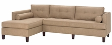 Cosmopolitan Contemporary Sectional With Chaise