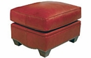 "Crowley ""Designer Style"" Leather Ottoman w/ Nailhead Trim"