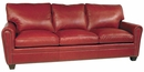 "Crowley ""Designer Style"" Oval Arm Leather Sofa w/ Nailhead Trim"