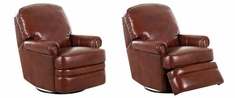Curtis 360 Degree Swivel Glider Leather Recliner Chair