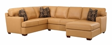 Carlos Track Arm Modern Leather Sectional