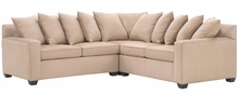 Dalton Fabric Upholstered Loose Pillow Back Sofa Sectional