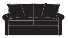 "Dana ""Designer Style"" Fabric Rolled Arm Loveseat"
