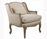 "Deanna ""Quick Ship"" Carved Wood Accent Chair"