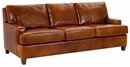 Dempsey Modern Leather Queen Sleeper Sofa