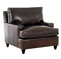 Demspey Contemporary Leather Chair