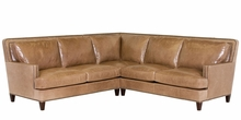 Desmond Contemporary Leather Sectional With Nailheads
