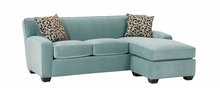 Michelle Fabric Apartment Size Reversible Chaise Sofa