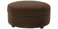 Dexter Large Round Fabric Storage Ottoman