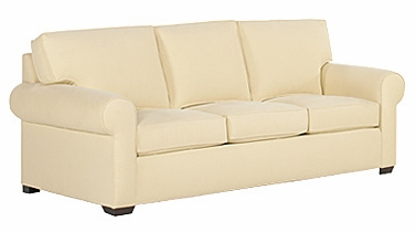 Fabric Upholstered Rolled Arm Queen Sleeper Sofa w Welt Cord Trim