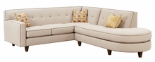 Justine Two Piece Mid-Century Sectional Sofa