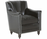 Donald Low Back Leather Accent Chair