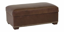 Donnelly Storage Leather Ottoman