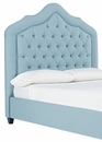 """Draper Fabric Or """"Designer Style"""" Leather Heaboard Only w/ Metal Bed Frame"""