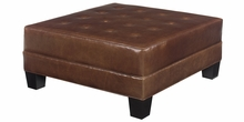 Drew Leather Upholstered Oversized Cocktail Ottoman