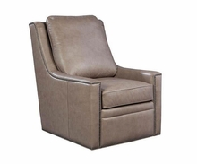 "Dunbar ""Quick Ship"" Contemporary 360 Degree Leather Swivel Chair"
