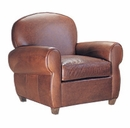 "Edison ""Designer Style"" Art Deco Leather Club Chair"