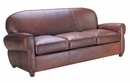 "Edison ""Designer Style"" Art Deco Leather Club Sofa"
