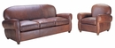 "Edison ""Designer Style"" Leather Sofa Set"