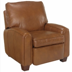 "Lyndon ""Designer Style"" Pillow Back Leather Recliner"