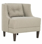 Elise Contemporary Barrel Back Fabric Accent Chair
