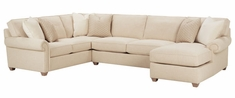 "Ellie 3-Piece ""Designer Style"" Oversized Comfort Fabric Sectional Sofa (As Configured)"