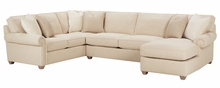 Ellie Deep Seated Upholstered Sectional w/ Chaise - Customize it Below