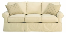 Emily Faux Slipcover Fabric Upholstered Queen Sleep Sofa
