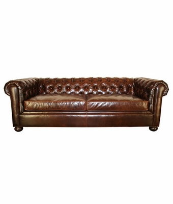 apartment size leather chesterfield sofa club furniture