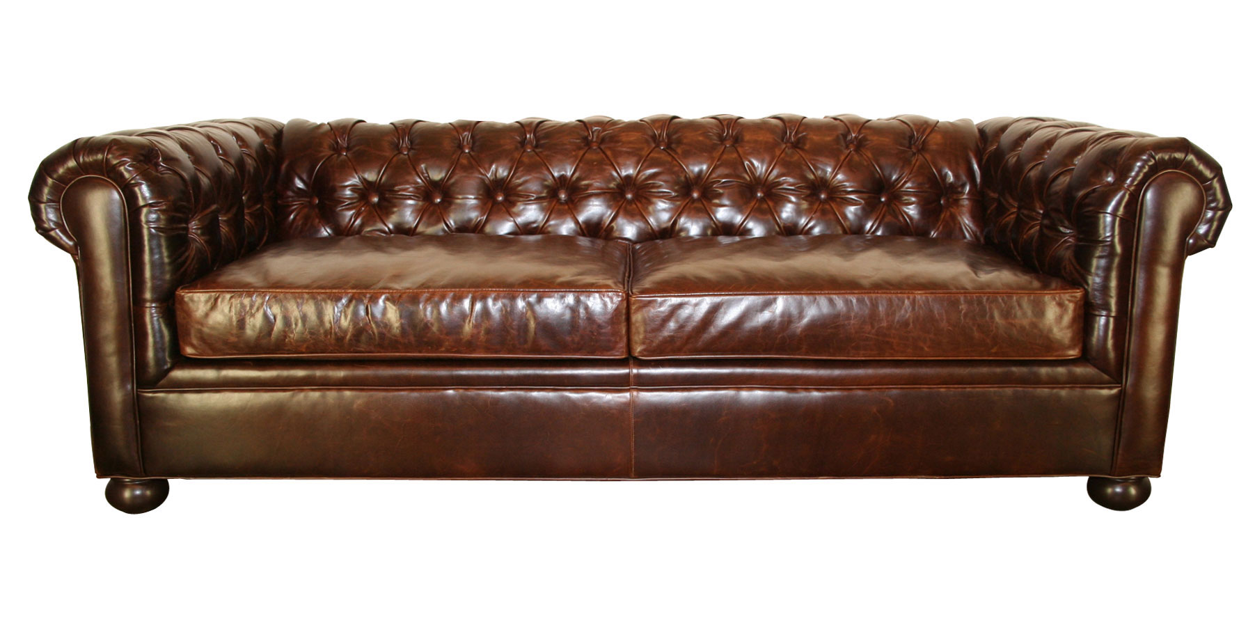 Tufted Leather Chesterfield Living Room Furniture Club