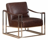 "Erik II ""Quick Ship"" Stainless Steel Frame Strap Sling Arm Accent Chair"