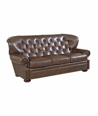 Essex Button Tufted Chesterfield Style Sofa w/ Nailhead Trim