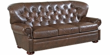 Essex Tufted Leather Chesterfield Style Sofa