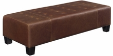 Ethan Long Leather Upholstered Bench