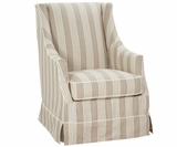 Ethel Skirted Slipcovered Accent Chair