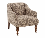 Eva Tight Back Fabric Accent Chair
