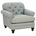 Evelyn Designer Style Fabric Upholstered Chair w/ Tufted Back